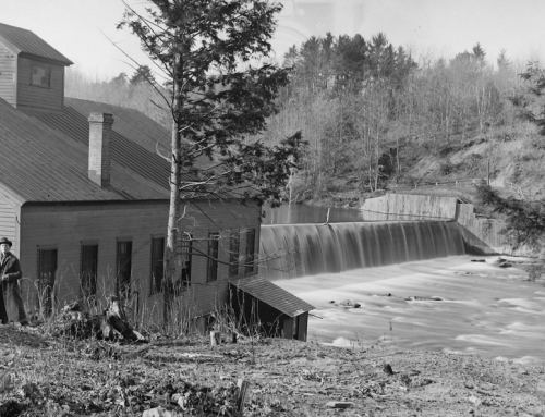 Remains of the Oil City Hydroelectric Plant