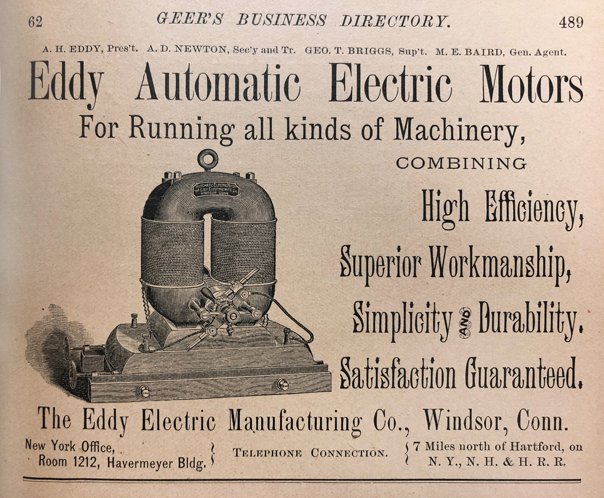 19th Century Eddy Electric Automobile Motors Windsor Historical Motor Wiring Diagram General Car As Well