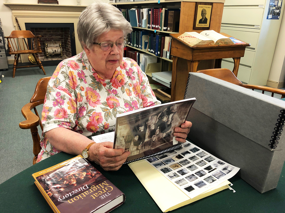 library volunteer Elaine Brophy