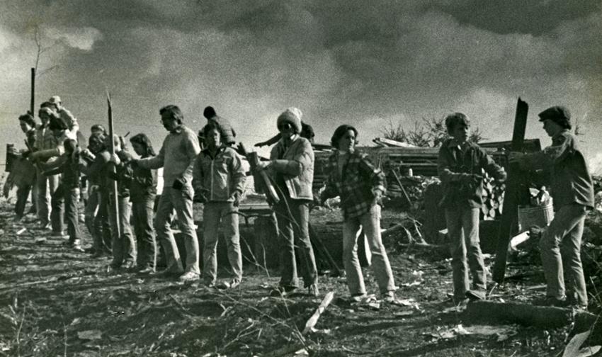 1979 tornado cleanup bucket brigade