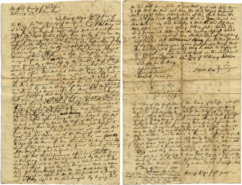 "A legal document describing ""unseasonable night walking"""