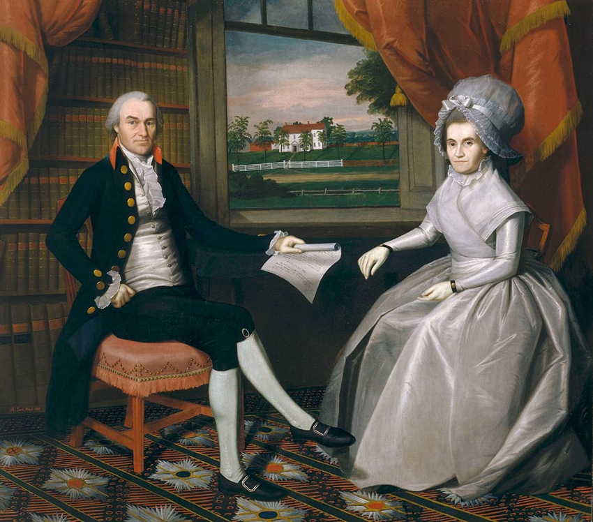 Oliver and Abigail Wolcott Ellsworth, by Ralph Earl