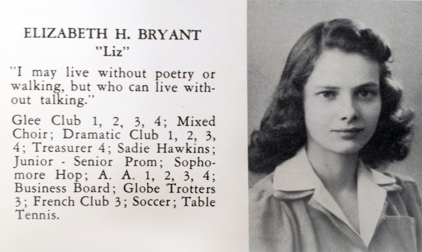 Elizabeth Bryant, 1943 Tunxis yearbook