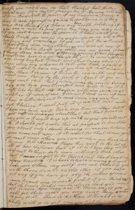 Hannah Hayden letter to Miss Alla Hayden c1807