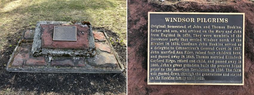 John Hoskins plaque