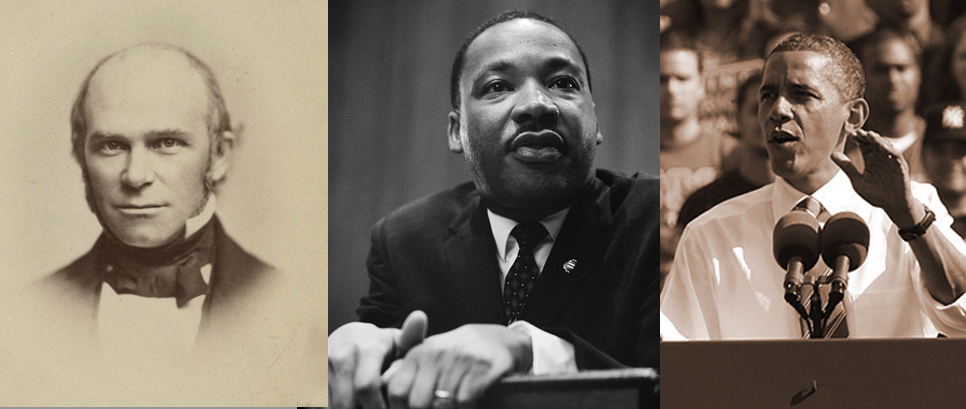 Theodore Parker, Martin Luther King Jr., Barack Obama