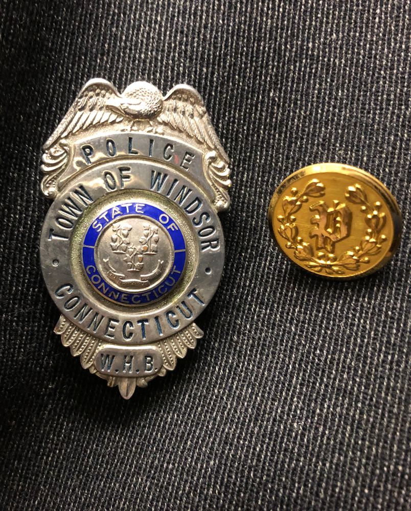 William H. Best's police badge