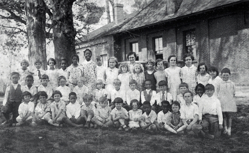 Hayden Station School class, 1929