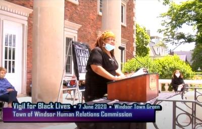 Black Lives Matter vigil screenshot