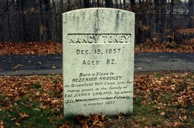 Nancy Toney's old gravestone