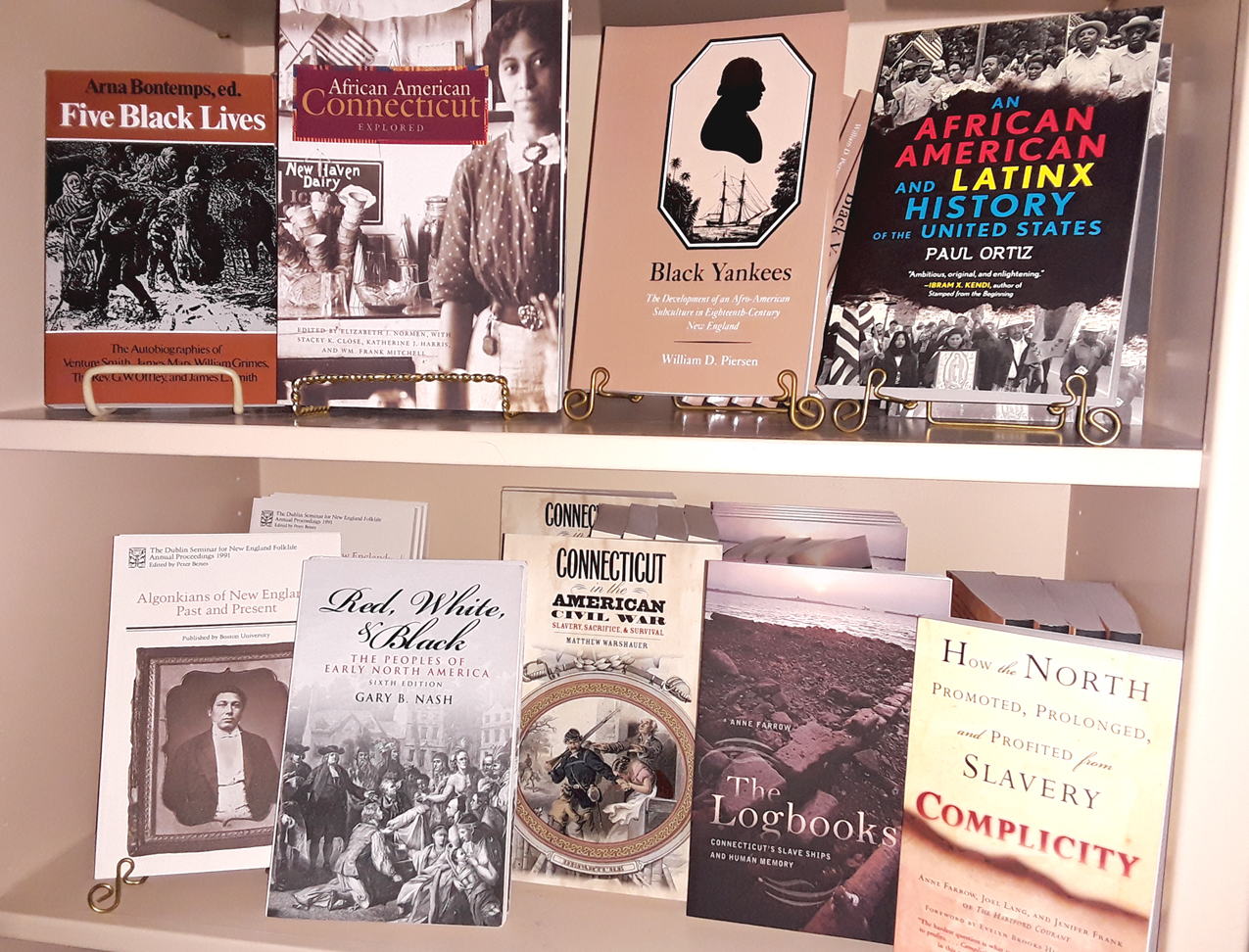 black history books in the WHS gift shop