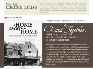 reinterpreted Chaffee House exhibits panel