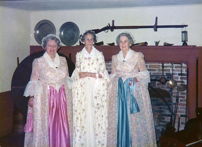 WHS volunteers Julia Carlson, Lydia Wade, and Dorothy Blake