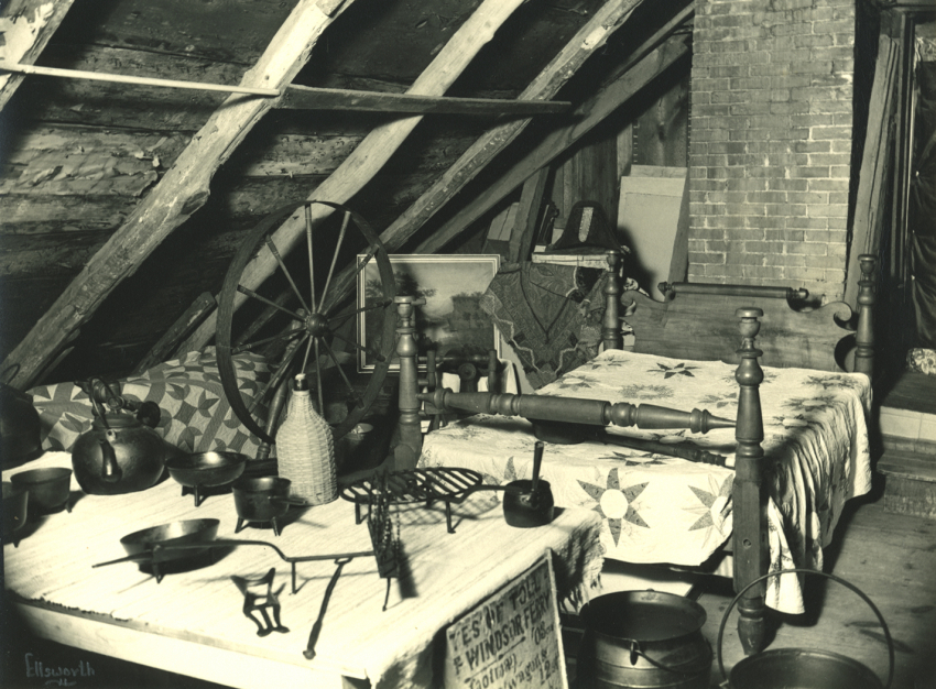 Strong-Howard House attic, c. 1930
