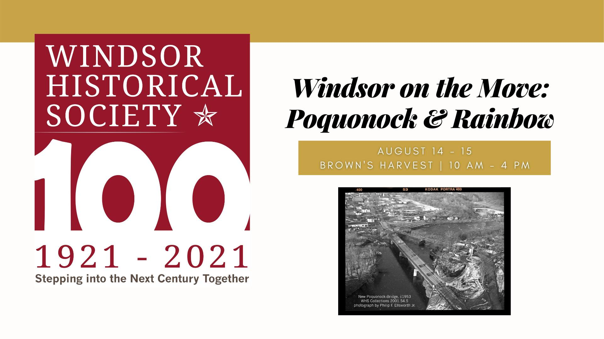 Windsor on the Move: Sharing Stories in Windsor Neighborhoods - Poquonock and Rainbow