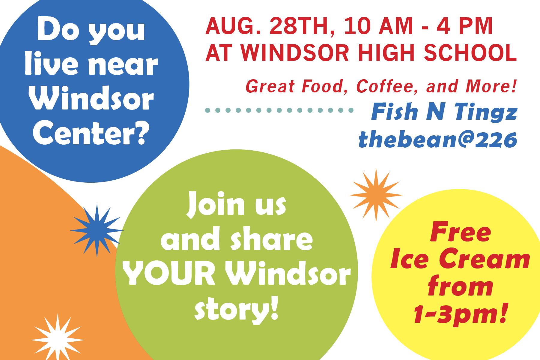 Windsor Center event flyer