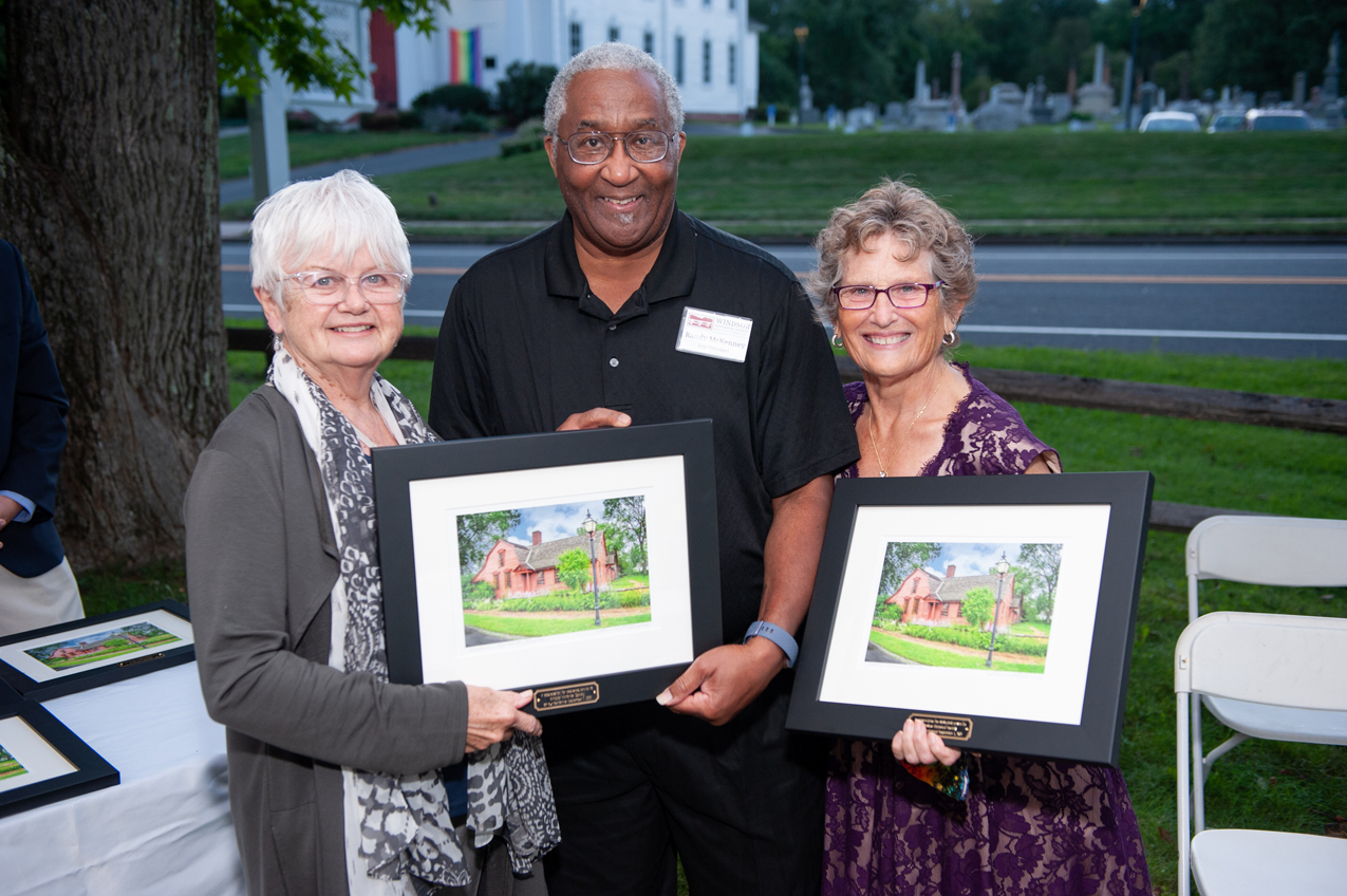 Honorees Ruth Fahrbach and Agnes Pier with Randy McKenney