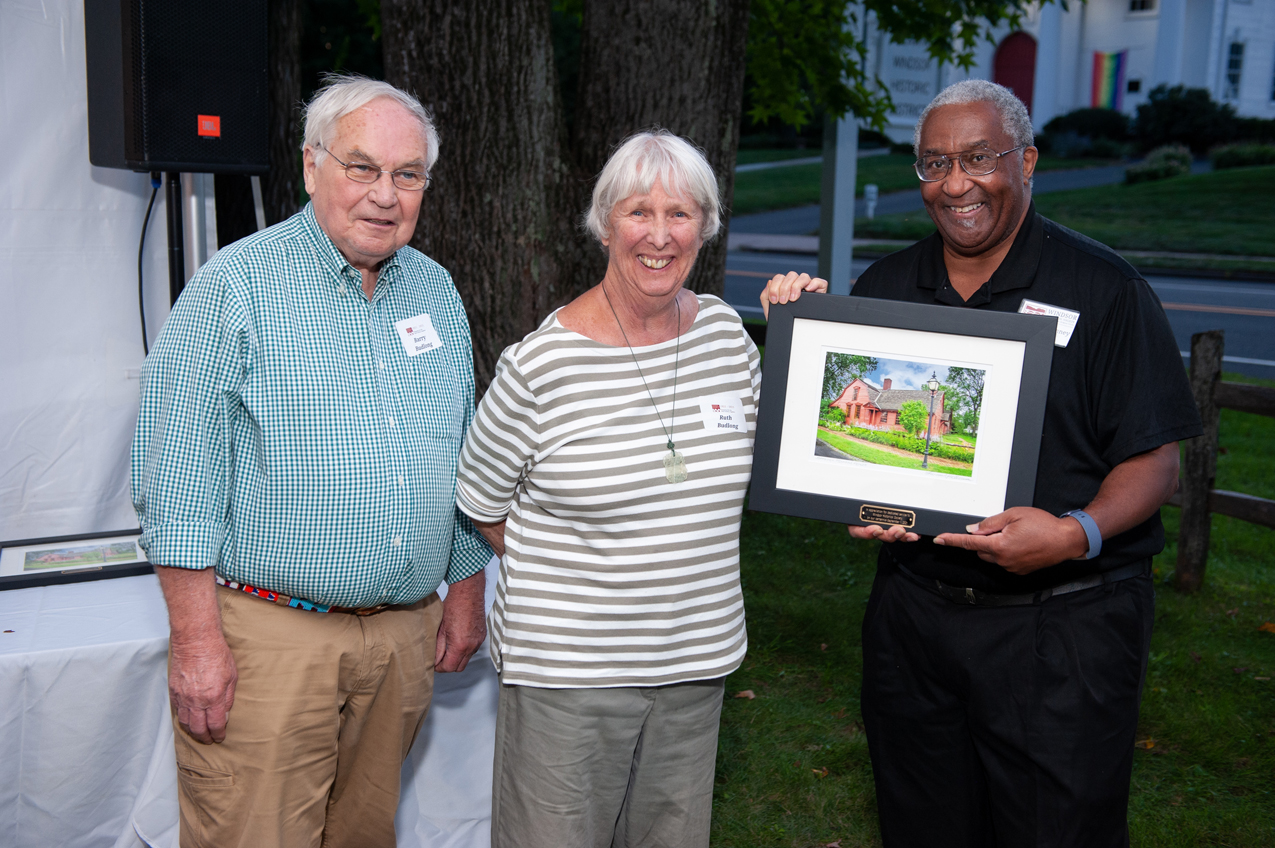 Honorees Barry and Ruth Budlong with Randy McKenney